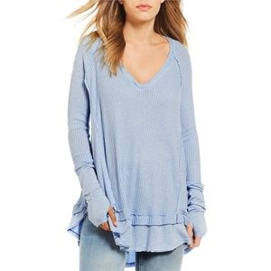 Free People We The Free Laguna Thermal Knit Blue